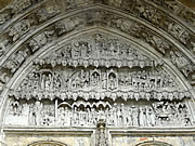 Stonecarving on the portal of the cathedral