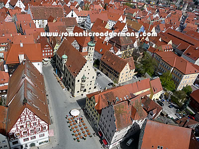 Aerial view of Nördlingen, Germany