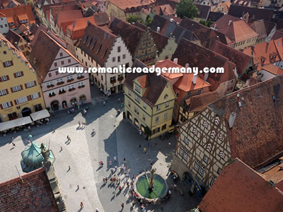Rothenburg Ob Der Tauber On The Romantic Road In Germany