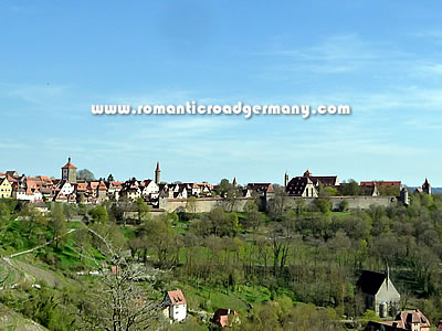 Camping and caravan sites along the Romantic Road in Germany